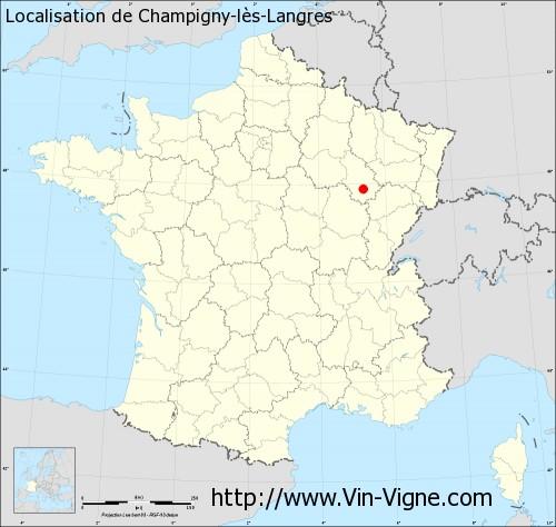 Carte de Champigny-lès-Langres
