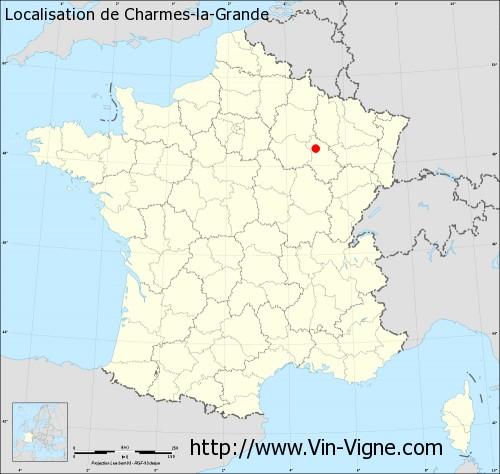 Carte de Charmes-la-Grande