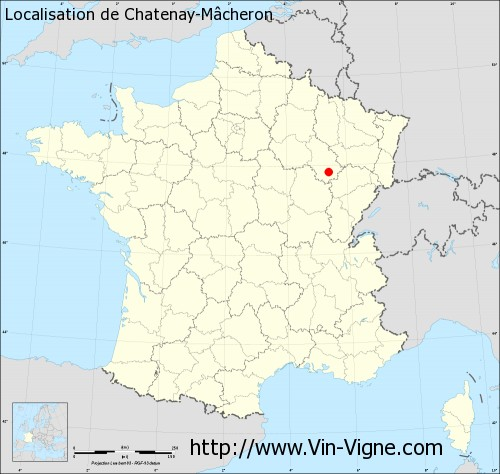 Carte de Chatenay-Mâcheron