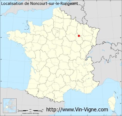 Carte de Noncourt-sur-le-Rongeant