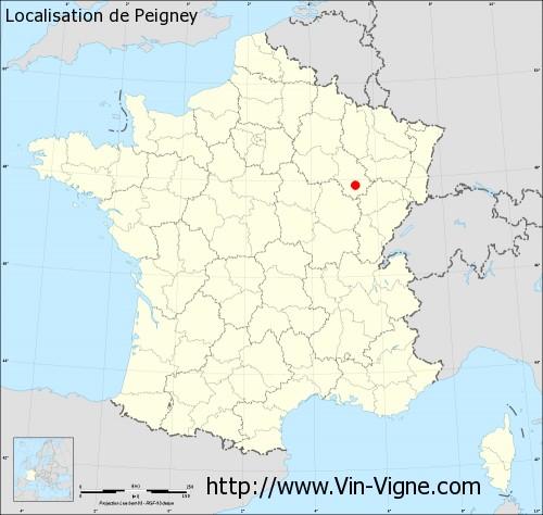 Carte de Peigney