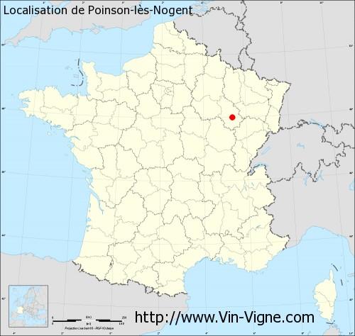 Carte de Poinson-lès-Nogent
