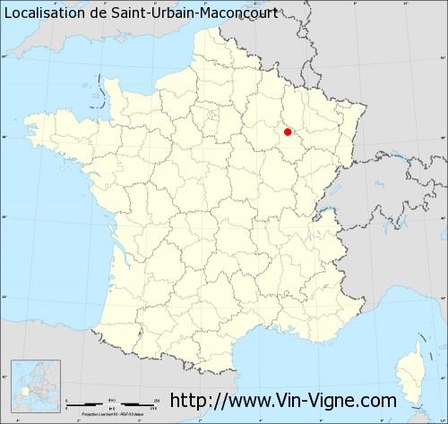Carte de Saint-Urbain-Maconcourt