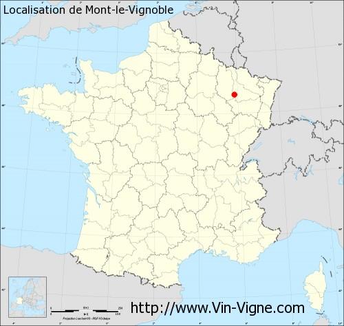 Carte de Mont-le-Vignoble