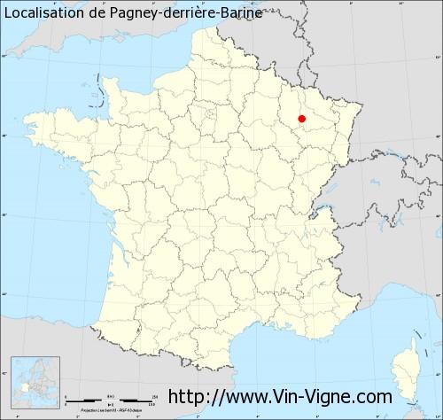 Carte de Pagney-derrière-Barine