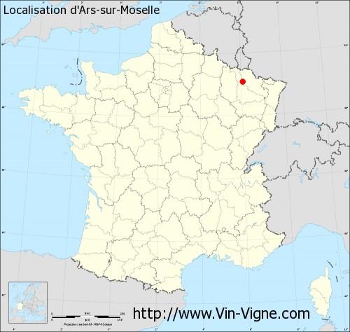 Carte d'Ars-sur-Moselle
