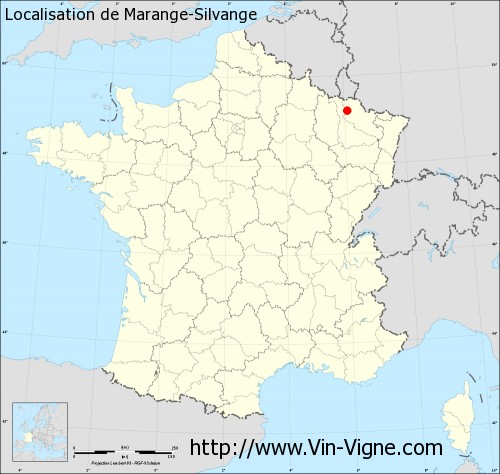 Carte de Marange-Silvange