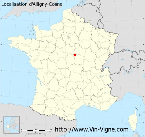 Carte d'Alligny-Cosne