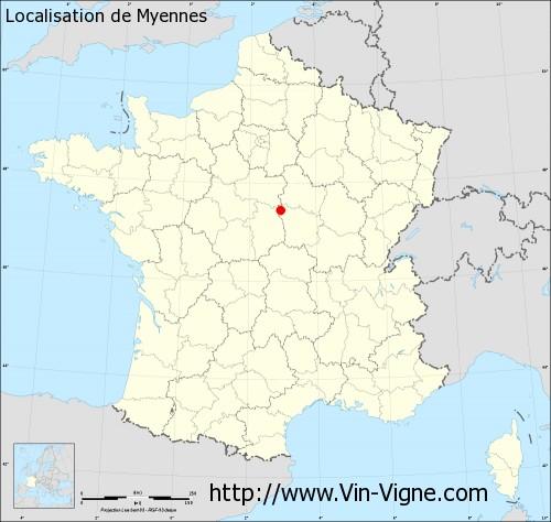 Carte de Myennes