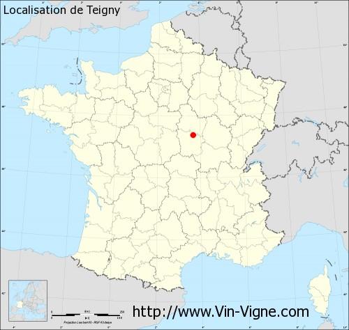 Carte de Teigny