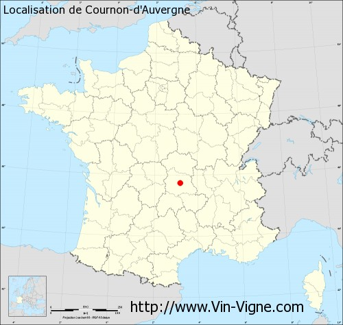 Carte de Cournon-d'Auvergne