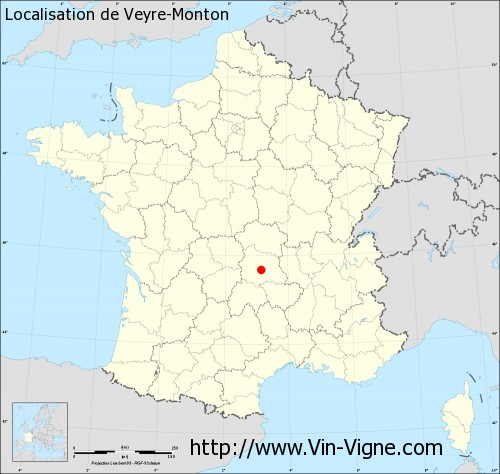 Carte de Veyre-Monton