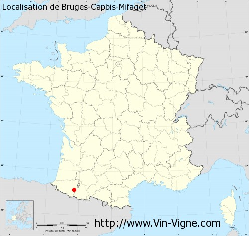 Carte de Bruges-Capbis-Mifaget