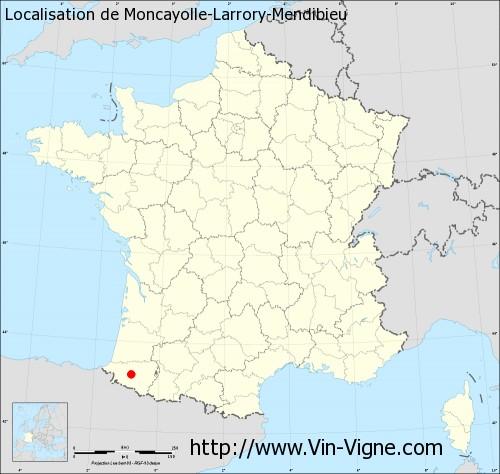 Carte de Moncayolle-Larrory-Mendibieu