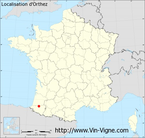 Carte  d'Orthez