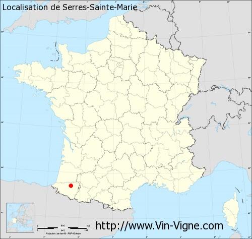 Carte de Serres-Sainte-Marie