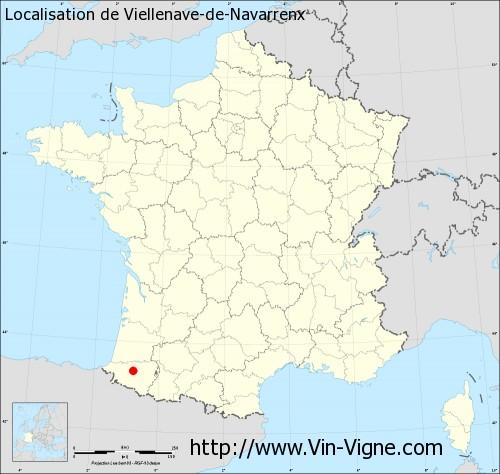 Carte de Viellenave-de-Navarrenx