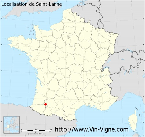 Carte de Saint-Lanne