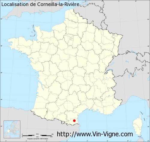 Carte de Corneilla-la-Rivière