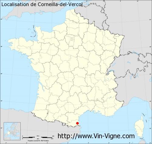 Carte de Corneilla-del-Vercol