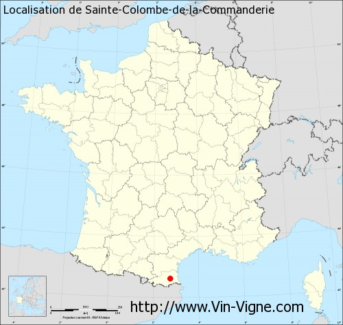Carte de Sainte-Colombe-de-la-Commanderie