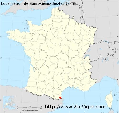 Carte de Saint-Génis-des-Fontaines