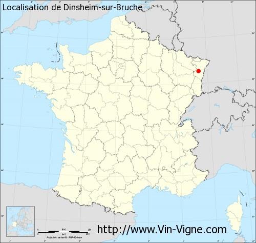 Carte de Dinsheim-sur-Bruche