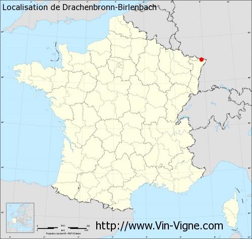 Carte de Drachenbronn-Birlenbach