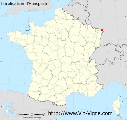 Carte d'Hunspach