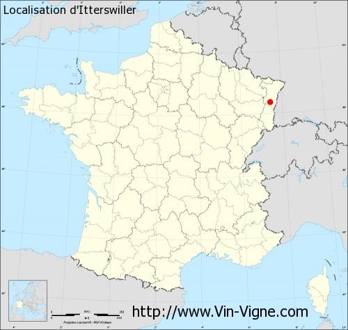 Carte d'Itterswiller