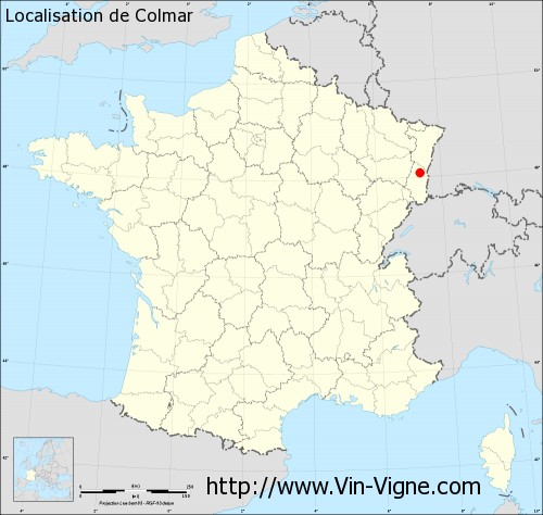 Carte de Colmar