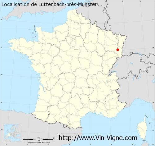Carte de Luttenbach-près-Munster