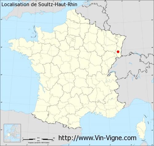 Carte de Soultz-Haut-Rhin