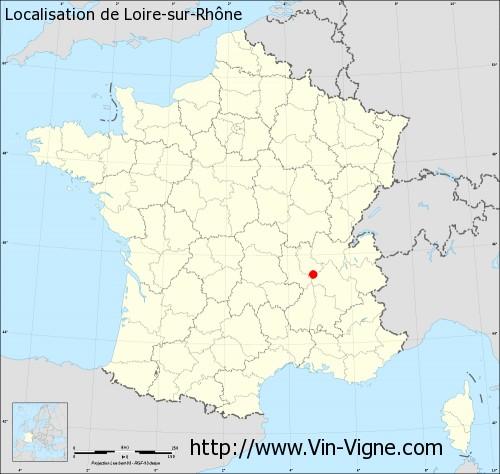 Carte de Loire-sur-Rhône