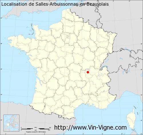 Carte de Salles-Arbuissonnas-en-Beaujolais