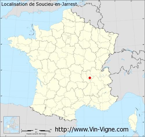 Carte de Soucieu-en-Jarrest