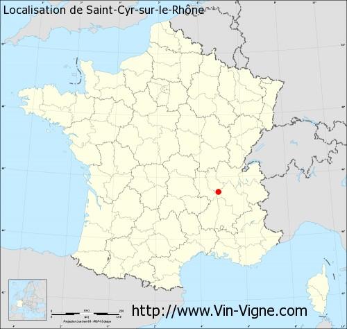 Carte de Saint-Cyr-sur-le-Rhône
