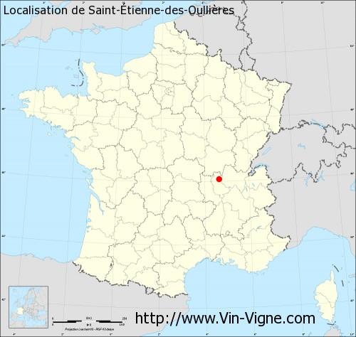 Carte de Saint-Étienne-des-Oullières