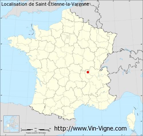 Carte de Saint-Étienne-la-Varenne