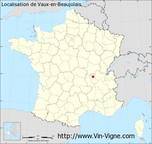 Carte de Vaux-en-Beaujolais