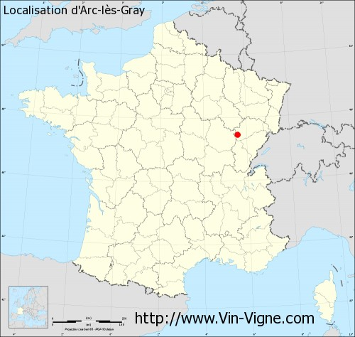 Carte d'Arc-lès-Gray