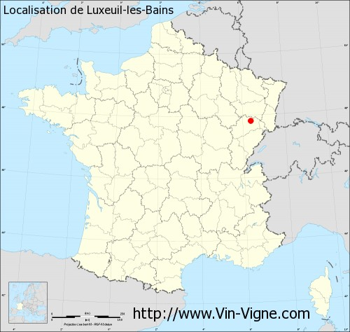 Carte de Luxeuil-les-Bains