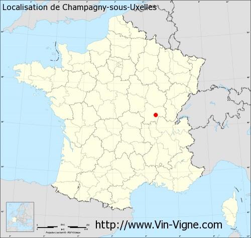 Carte de Champagny-sous-Uxelles