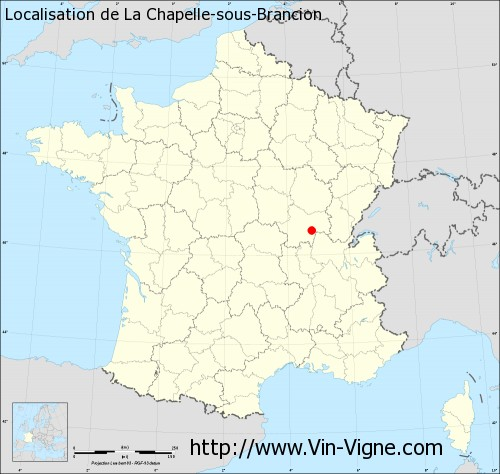 Carte  de La Chapelle-sous-Brancion