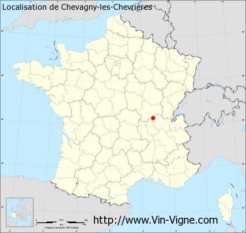 Carte de Chevagny-les-Chevrières