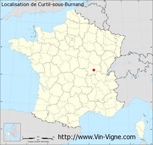Carte de Curtil-sous-Burnand