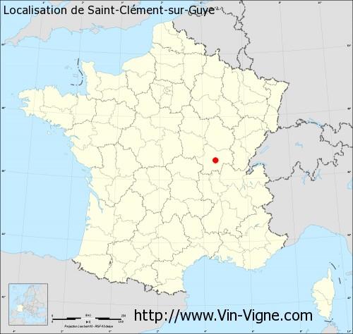 Carte de Saint-Clément-sur-Guye