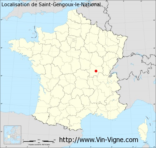 Carte de Saint-Gengoux-le-National