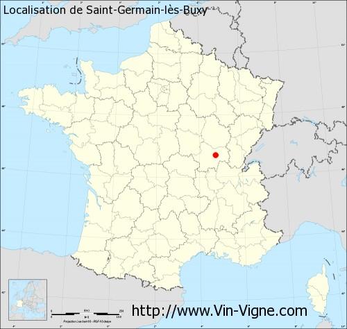 Carte de Saint-Germain-lès-Buxy