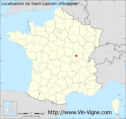 Carte de Saint-Laurent-d'Andenay